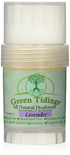 Green Tidings All Natural Deodorant *Extra Strength, All Day Protection* Lavender 1oz (3 PACK- 15% OFF) by Green Tidings (Image #1)