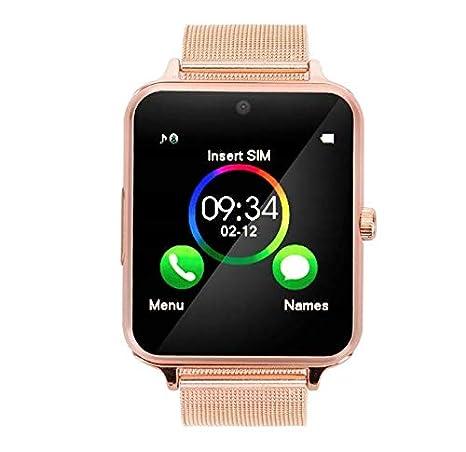 Bluetooth Smartwatch RONEBERG, Reloj Inteligente con Llamada y Texto con cámara de visualización táctil, sincronización de notificaciones, Compatible con ...
