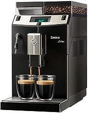 Saeco Lirika Basic Independiente 2.5L Negro, Metálico - Cafetera (Independiente, 2,5 L, Granos de café, 1850 W, Negro, Metálico)