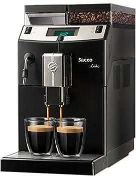Saeco Lirika Basic Independiente 2.5L Negro, Metálico - Cafetera (Independiente, 2,5 L, Granos de café, 1850 W, Negro, Metálico): Amazon.es: Hogar