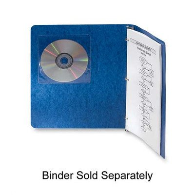 Fellowes Inc : Self-Adhesive CD Holders,5-3/8''x1/32''x5-3/8'',5/PK,Clear -:- Sold as 2 Packs of - 5 - / - Total of 10 Each