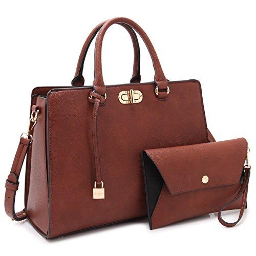 MMK collection Fashion Handbag with coin purse(XL-11) Classic Women Purse Handbag for Women` Signature fashion Designer Purse ~ Perfect Women Satchel Purse (XL-23-7581-Brown)