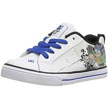 DC Court Graffik Vulcanized WG Skate Shoe (Little Kid/Big Kid),White/Green,3 M US Little Kid
