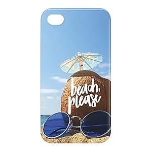 Loud Universe Apple iPhone 4/4s 3D Wrap Around Beach Please Print Cover - Multi Color