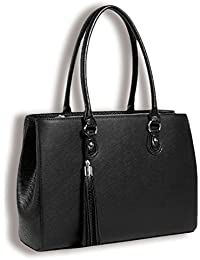 BfB Laptop Tote and Tablet Bag – Lightweight Handmade Designer Work Tote - BLACK