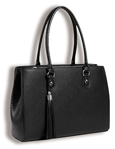 BfB Laptop Tote and Tablet Bag – Lightweight Handmade Designer Work Tote - BLACK by My Best Friend is a Bag