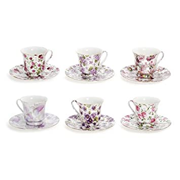 Amazoncom Bulk Buy Darice DIY Crafts Tea Cup and Saucer All Over