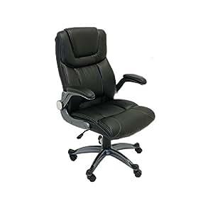 Aleko alc2380bl silla de oficina respaldo alto for Silla ergonomica amazon