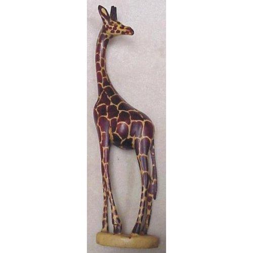 African Art 18 Hand Carved Wood Wooden Giraffe Sculpture Statue Made In Kenya