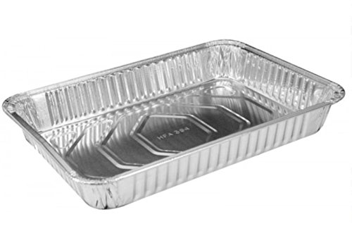 Handi-Foil 13'' x 9'' Oblong Aluminum Foil Disposable Cake Pan with Clear Dome Lids - HFA REF # 394-WDL (Pack of 50 Sets)