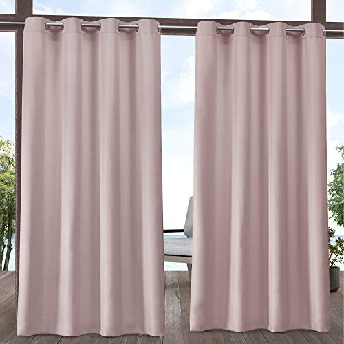Exclusive Home Curtains Indoor/Outdoor Solid Panel Pair, 54×84, Blush