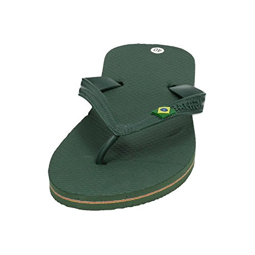 Hombre Zapatop Sandalias Bh n009 Dedo Verde De Chanclas qrXrA8w