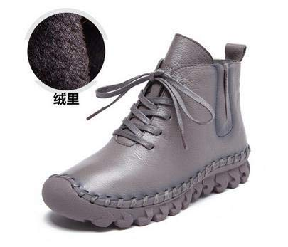 Casual Low Round Toe Leather Winter Shoes