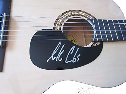 Luke Combs Autographed Full Size Natural Acoustic Guitar W/PROOF, Picture of Luke Signing For Us, Country Music, Guitar, Music, Country Music Awards, When it Rains It Pours, Hurricane, She Got the Best of Me, One Number Away