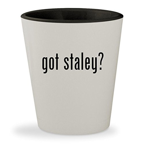 got staley? - White Outer & Black Inner Ceramic 1.5oz Shot (Chicago Bears Staley Costume)