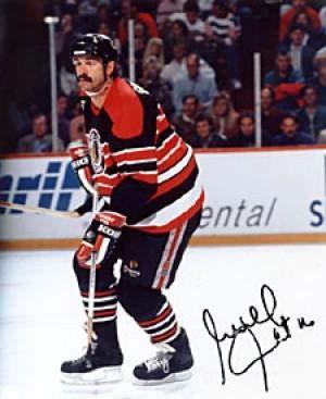 Autographed Michel Goulet Photo - 8x10 - Autographed NHL Photos