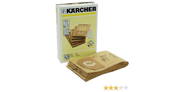 Kärcher 6.904-263.0 - Pack de 5 filtros de bolsa para aspiradoras: Amazon.es: Hogar