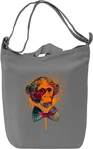 Orange Monkey Borsa Giornaliera Canvas Canvas Day Bag| 100% Premium Cotton Canvas| DTG Printing|