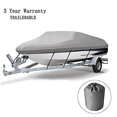 Cool Bank 3 Bow Bimini Boat Top Cover Includes Support Pole and Mounting Hardware,with Storage Boot