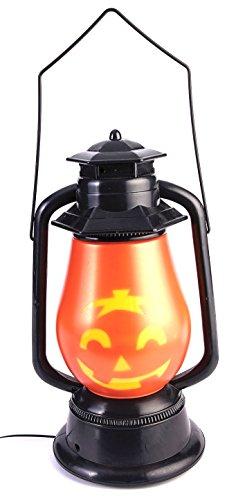 Forum Novelties 76841 Light Up Halloween Face Lantern, Pumpkin