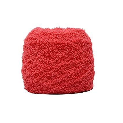 wddh suave lana hilo aguja Coral cachemira bufandas sombrero ...