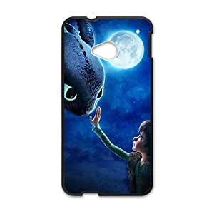 Moon night fish and boy Cell Phone Case for HTC One M7