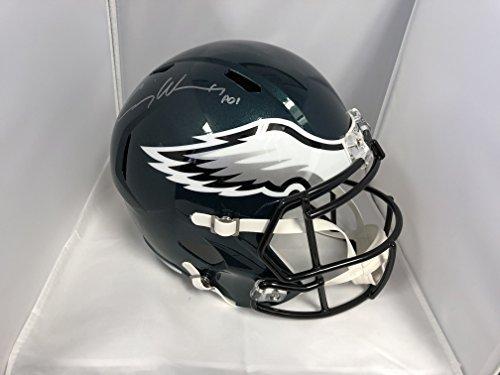 Carson Wentz Signed Autographed Philadelphia Eagles Full Size Speed Helmet COA & Hologram (Signed Helmet)