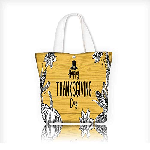 tote bag for grocery shoppingcanvas bag shoppingThanksgiving day with leaves pumpkin corn ear spica 14