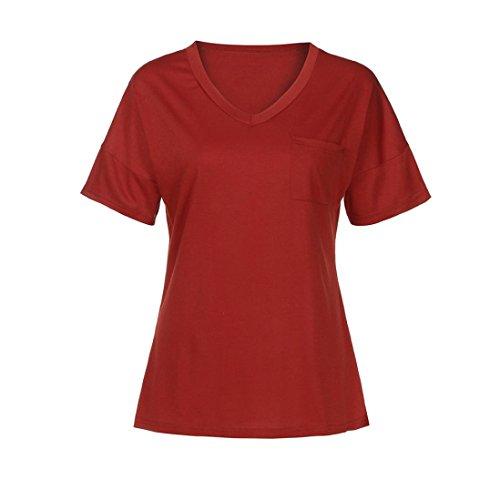 Damen Sanfashion Shirt145 Ballerine Rosso Multicolore Donna Bekleidung 7avwvnq50