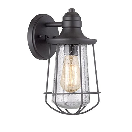 .5-in H Black Outdoor Wall Light ()