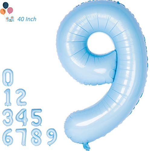 Changzhong Jumbo Number Balloons 40 Inch Tiffany Blue Party Balloons Birthday Decorations