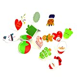 Coohole 14pcs Christmas Party Xmas Tree Ornaments Card Hanging Decorations Home (A)