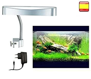 Luz para Pecera Acuario 13 led 22cm Lampara 2 en 1 luz azul o luz blanca: Amazon.es: Productos para mascotas