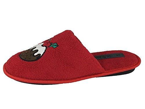 SaneShoppe - Zapatillas de casa Mujer Rojo