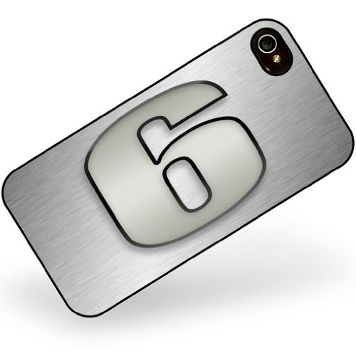 iphone 4 4s 6 number as apple gray - Neonblond