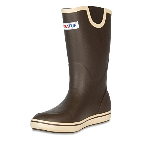 XTRATUF Performance Series 12'' Men's Full Rubber Deck Boots, Chocolate & Tan (22702) by Xtratuf (Image #8)