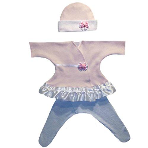 Jacqui's Baby Girls' Pretty Pink Polka Dot Sassy Dress, Preemie
