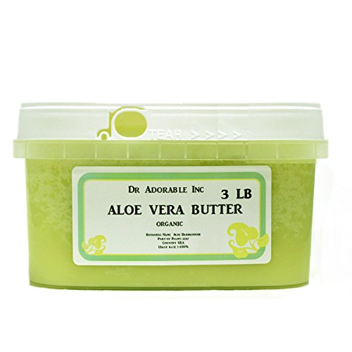 Aloe Vera Butter Pure Organic by Dr. Adorable 48 Oz/ 3 Lb