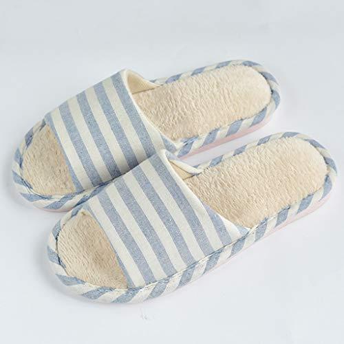 Couleur Pantoufles Coton 41EU Bleu Taille AMINSHAP Chaud Pantoufles Pantoufles Femmes Bleu 40 Hiver Maison Pantoufles wYYSO6qEz
