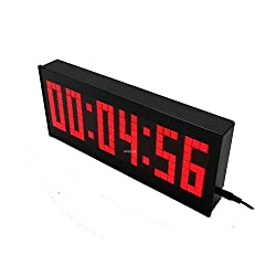 BTBSIGN BT LED Digital Countdown Wall Clock with Remote and Buttons GYM Fitness Sport Timing Clock