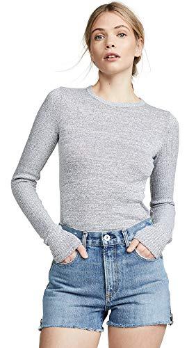 (Rag & Bone/JEAN Women's Clara Slim Pullover, Light Grey, Large)