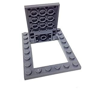 Lego parts modified plate 4 x 5 with trap door hinge and door frame complete Trap door hinges