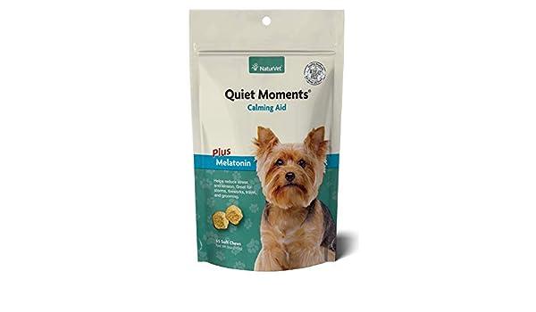 NaturVet QUIET MOMENTS CALMING AID Natural Stress Relief Dog Cat 65 ...