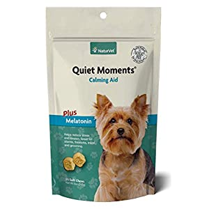 NaturVet Quiet Moments Calming Aid Dog Supplement – Helps Promote Relaxation, Reduce Stress, Storm Anxiety, Motion…