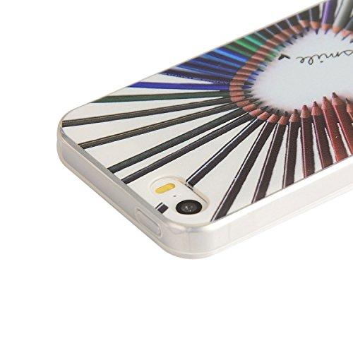 Für Apple iPhone 5 5G 5S / iPhone SE (4 Zoll) Hülle ZeWoo® TPU Schutzhülle Silikon Tasche Case Cover - YG011/ Farbstiften