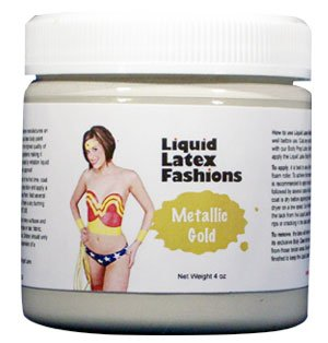 [Metallic Gold Liquid Latex Body Paint in 4 Ounces] (Latex Body Paint Costumes)