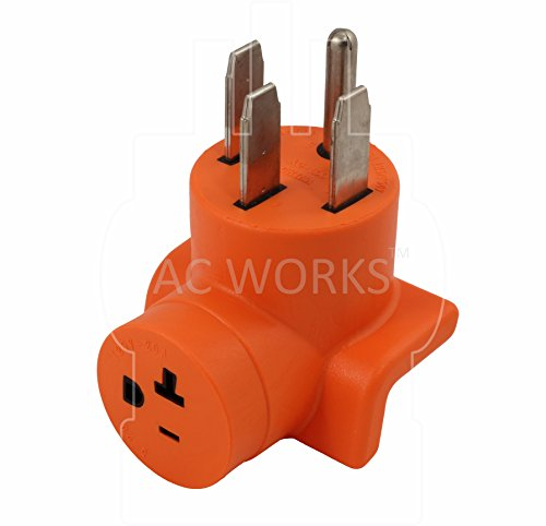 AC WORKS [AD1450520] Plug Adapter NEMA 14-50P 50Amp Range/RV/Generator Outlet to Household 15/20Amp 125Volt T-Blade Female Connector by AC WORKS (Image #3)