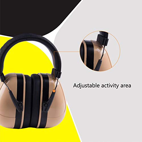 Noise Cancelling Headphones, Head-Mounted Adult Soundproof Earmuffs Sleep Learning Noise Reduction Earphones by Noise canceling headphones (Image #4)