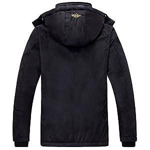Wantdo Women's Mountain Waterproof Fleece Ski Jacket Windproof Rain Jacket, Large, Black