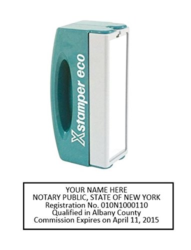 Xstamper Pre-Inked Custom Stamp N42 New York Pocket Notary Stamp 5/8